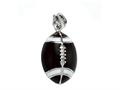 Brown and White Enamel Football Charm for Charm Braclelet or Smartphone using our Smartphone Plug