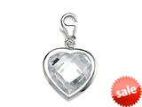 April Simulated Birthstone Heart Shape Charm for Charm Braclelet or Smartphone using our Smartphone Plug Adaptor style: BPC1611
