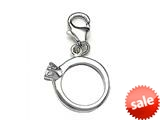 CZ Engagment Ring Charm for Charm Braclelet or Smartphone using our Smartphone Plug style: BPC1915