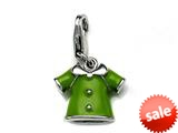 Green Enamel Blouse Charm for Charm Braclelet or Smartphone using our Smartphone Plug style: BPP1724
