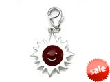 Red Enamel Sunshine Charm for Charm Braclelet or Smartphone using our Smartphone Plug style: BPP1738