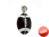 Brown and White Enamel Football Charm for Charm Braclelet or Smartphone using our Smartphone Plug style: BPP1876