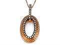 Carlo Viani® Brown Diamonds Pendant Necklace in Rose Gold