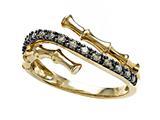 Carlo Viani® Brown Diamonds Bamboo Ring style: C102-0382
