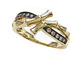 Carlo Viani® Brown Diamonds Bamboo Ring style: C102-0385