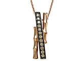 Carlo Viani® Smokey Quartz Bamboo Pendant Necklace style: C103-0335
