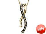 Carlo Viani® Smokey Quartz Bamboo Pendant Necklace style: C103-0333