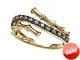 Carlo Viani® Smokey Quartz Bamboo Ring style: C103-0334