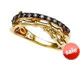 Carlo Viani® Smokey Quartz Bamboo Ring style: C103-0336