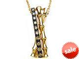 Carlo Viani® Smokey Quartz Bamboo Pendant Necklace style: C103-0338