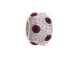 Zable™ Sterling Silver January Crystal Ball Non-oxidized Pandora Compatible Bead / Charm style: BZ1038