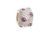 Zable™ Sterling Silver June Crystal Ball Non-oxidized Bead / Charm style: BZ1043
