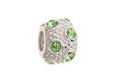 Zable™ Sterling Silver August Crystal Ball Non-oxidized Pandora Compatible Bead / Charm style: BZ1045
