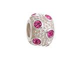 Zable™ Sterling Silver October Crystal Ball Non-oxidized Bead / Charm style: BZ1047