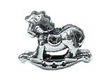 Zable™ Sterling Silver Rocking Horse Pandora Compatible Bead / Charm style: BZ1765