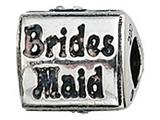 Zable™ Sterling Silver Bridesmaid Bead / Charm style: BZ2105