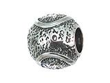 Zable™ Sterling Silver Tennis Ball Bead / Charm style: BZ2144