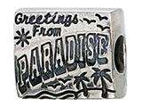 Zable™ Sterling Silver Postcard From Paradise Pandora Compatible Bead / Charm style: BZ2172