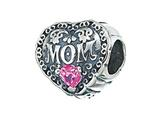 Zable™ Sterling Silver Mom With Crystals Pandora Compatible Bead / Charm style: BZ2186