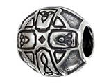 Zable™ Sterling Silver Celtic Cross Bead / Charm style: BZ2218