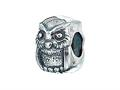 Zable™ Sterling Silver Owl Bead / Charm
