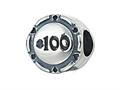 Zable™ Sterling Silver Poker Chip Bead / Charm