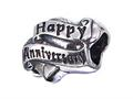 Zable™ Sterling Silver Happy Anniversary Pandora Compatible Bead / Charm