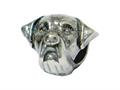 Zable™ Sterling Silver Rottweiler Bead / Charm