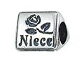 Zable™ Sterling Silver Niece Pandora Compatible Bead / Charm