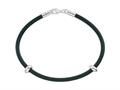 Zable™ Sterling Silver 7 inch by 3mm Rubber Bracelet for Bead / Charm