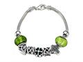 Zable™ Sterling Silver Celtic Theme Bracelet with 7 Beads