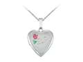 Finejewelers Sterling Silver 16mm Heart Mom Locket, 16-18 Inch Adjustable Box Chain