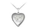 Finejewelers Sterling Silver 20mm Heart Infinite Love Locket, 16-18 Inch Adjustable Box Chain