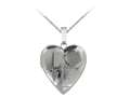 Finejewelers Sterling Silver 20mm Heart Love Locket, 16-18 Inch Adjustable Box Chain