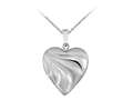Finejewelers Sterling Silver 20mm Heart Locket, 16-18 Inch Adjustable Box Chain