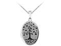 Finejewelers Sterling Silver 20x25mm Oval Tree Of Love Locket, 16-18 Inch Adjustable Box Chain
