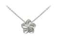 Wind And Fire Plumeria Dainty Pendant Necklace With 18 Inch Adjustable Chain