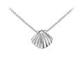 Wind And Fire Seashell Dainty Pendant Necklace With 18 Inch Adjustable Chain