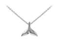 Wind And Fire Whale Tail Dainty Pendant Necklace With 18 Inch Adjustable Chain