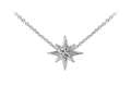 Wind And Fire North Star With Swarovski Crystal Dainty Pendant Necklace With 18 Inch Adjustable Chain