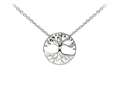 Wind And Fire Tree Of Life Dainty Pendant Necklace With 18 Inch Adjustable Chain