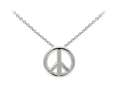 Wind And Fire Peace Sign Dainty Pendant Necklace With 18 Inch Adjustable Chain