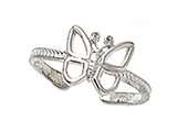 Finejewelers Sterling Silver Toe Ring Butterfly style: CGSS306