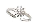 Finejewelers Sterling Silver Toe Ring Daisy style: CGSS307