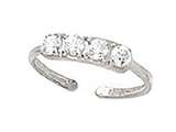 Finejewelers Sterling Silver  Toe Ring 4 Czs style: CGSS314