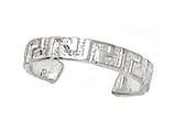 Finejewelers Sterling Silver Rhodium Finish Toe Ring Greek Key style: CGSS316