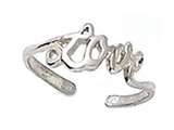 Finejewelers Sterling Silver Love Toe Ring style: CGSS317