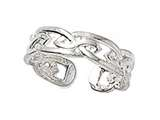 Finejewelers Sterling Silver Toe Ring Celtic Knot style: CGSS319