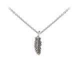 Wind And Fire Feather Dainty Pendant Necklace With 18 Inch Adjustable Chain style: CGWF3202S