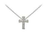 Wind And Fire Filigree Cross Dainty Pendant Necklace With 18 Inch Adjustable Chain style: CGWF3204S